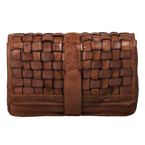 Damen Leder-clutch, Handtaschen (STILORD 'Ella' Handtasche Damen Leder klein Vintage Clutch geflochten Abendtasche Ausgehtasche für Party Disco Freizeit echtes Rindsleder, Farbe:ocker - braun)