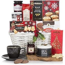 Cesta Blanca Navidad - Cestas de Navidad - Cesta de comida festiva - Cestas de regalo