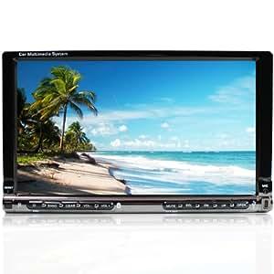 """TÃGA TG-801 Autoradio / Moniceiver / Multimédia Player + 7""""/ 18 cm TFT LCD écran tactile + Bluetooth Mains Libres + codefree Lecteur DVD / CD + Fente pour carte SD (jusqu'à 32 Go!) + connexion USB (jusqu'à 32 Go!) + MP3, WMA, MPEG4 + Double-DIN (DIN 2) taille de l'installation standard + avec télécommande (Import Royaume Uni)"""