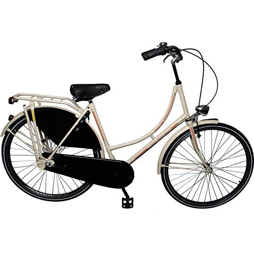 51pW15BEPsL. SS500  - Leader City Retro 28 Inch 53 cm Woman 3SP Coaster Brake Ivory white
