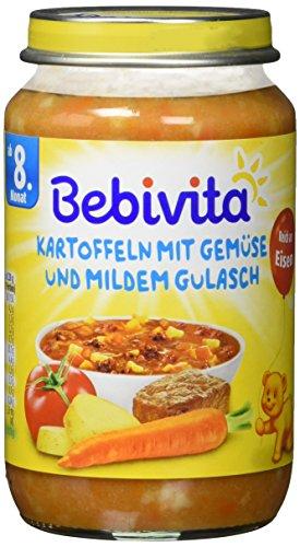 Bebivita Kartoffeln mit Gemüse und mildem Gulasch, 1er Pack (1 x 220 g)