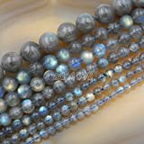 AD Perles en gros lisse pierres naturelles Perles rondes en vrac 38,1cm 4mm 6mm 8mm 10mm 12mm 4mm A++ Labradorite