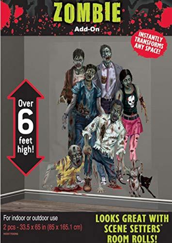 amscan Halloween Zombies Scene Setter Add-Ons Kunststoff Dekorationen 1,65m x 85cm (Halloween-spiele Gute Für Preise Die)