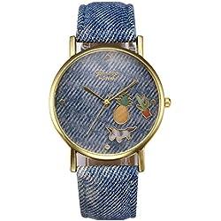 Geneva Platinum Faded Jeans Randon Things Analog Multi-Colour Dial Women & Girls Watch - GP-317