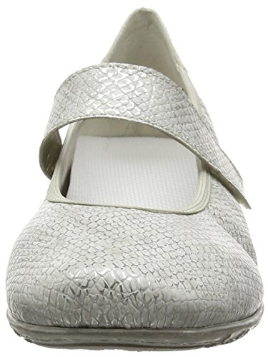 Argento Toe Silver donna RiekerL2062 Closed Ballerine Rieker Argento Women n7qw1AW7z