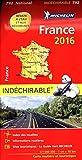 Carte France 2016 Indéchirable Michelin