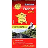 Carte France 2016 Indéchirable Michelin