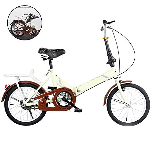 51pW4 ak5GL. SS500  - SYCHONG Folding Bicycle 16 Inch Male And Female for Adults Ultralight Children Portable Small Road Bike,A