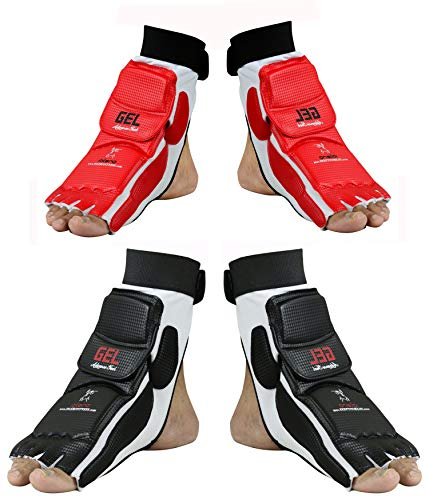EVO Taekwondo Fußschutz Guard Karate Handschuhe MMA Polster Socken Sparring Getriebe-kinder Neu Damen - Rot, Small