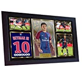 SGH SERVICES Poster Neymar Paris Saint Germain, gerahmt,