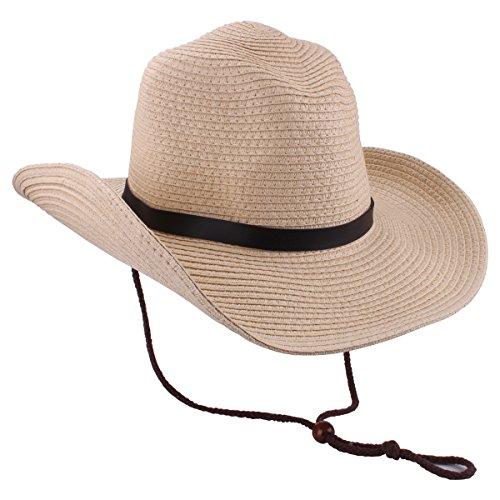 Sombrero de vaquero para hombres Sombrero de paja Sombrero de ala ancha  Sombreros de sol de dce7f585d49