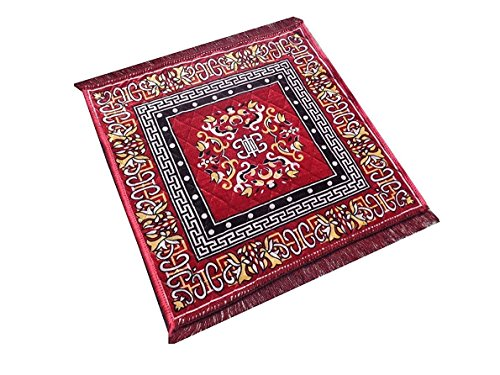 Kuber Industries™ Red Pooja Aasan, Mat (2 Ft X 2 Ft)