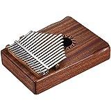 Kalaok 17-Key portatile Kalimba Mbira Thumb Piano in mogano in legno massello regalo strumento musicale per gli amanti della musica Studenti principianti