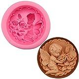 De septiembre de rosa ángel molde para horno herramientas DIY molde de silicona formas moldes para hecho a mano jabón Fondant Molde Chocolate arcilla polimérica molde