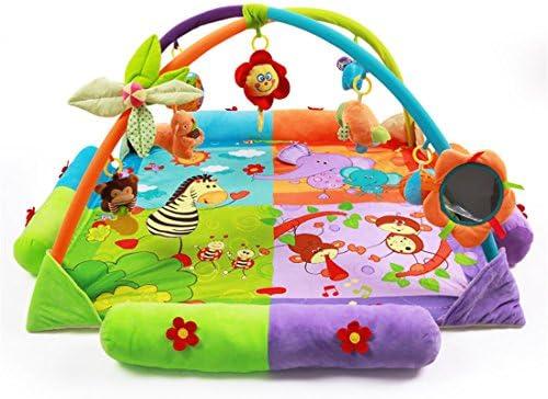 Colorfulworld Tapis d'éveil pour bébé - Tapis d'activité motifs avec arcs et jouets éducatifs   Mode Attrayant