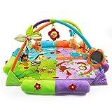 Kenmont Baby Spieldecke Spielbögen Krabbeldecke Babybett Musik-Activity Gym Spielzeug
