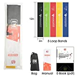 INMAKER Resistance Bands Gym, Heavy Exercise Loop Band Set for Women and Men, Set of 5, Free Workout EBook, Manual and Carry Bag, 2 Optional Levels