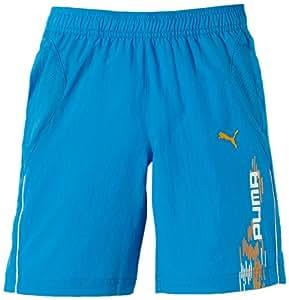 Puma Short de sport long en maille pour garçon Bleu Bleu 8-9 ans