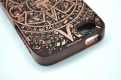 Holzsammlung® iPhone SE / iPhone 5S / iPhone 5 Holzhülle - Kirschholz - NatürlicheHandgemachteBambus / Holz Schutzhülle für Ihr Smartphone Palisander-Maya