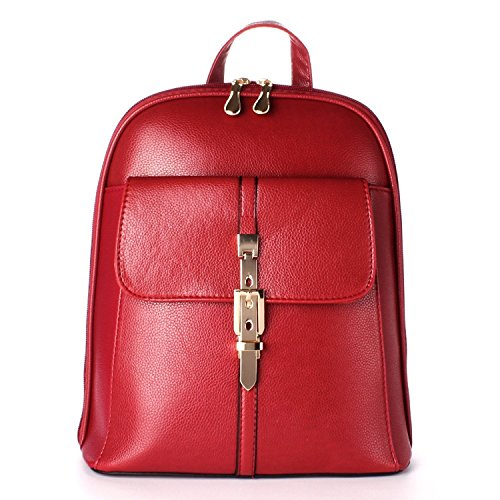 OUMIZHI Vintage Sweet Women and DCHEN Backpack School Bag Travel Bag Rot (Lady Sterben)