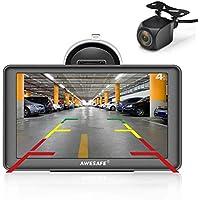 AWESAFE GPS para Coches con 7 Pulgadas Pantalla LCD con Bluetooth y Cámara Trasera, Navegador GPS para Camión con Actualizaciones de Mapas para Toda la Vida