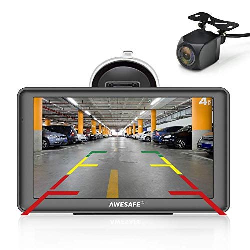 AWESAFE GPS para Coches con 7 Pulgadas Pantalla LCD con Bluetooth y...