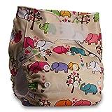 LittleBloom Nappies, Wiederverwendbare Windeln mit Einlage, Klettverschluss, Verschiedene Motive
