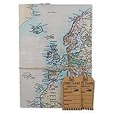 Alten Stil Karte Geschenkpapier mit Geschenkanhänger, First Class
