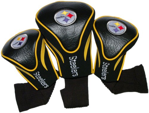 team-golf-32494-pittsburgh-steelers-3-pack-contour-fit-headcover