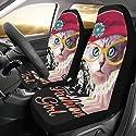 Menschlicher ehrlicher Freund Honig Nette Katze Haustier Brauch New Universal Fit Auto Drive Autositzbezüge Protector für Frauen Automobil Jeep Suv Fahrzeug Zubehör für Erwachsene Baby Satz von 2
