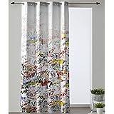 Cortina Modelo Abstracto, Color Multicolor, Medida 140x280cm
