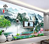 Fototapete 3D Tapete Nordische Elegante Neue Handbemalte Wand Im Hintergrund 3D Effekt Vliestapete Wandbilder Wanddeko