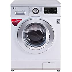 LG 8 kg Fully-Automatic Front Loading Washing Machine (FH4G6TDNL42, Silver)