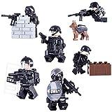 15000P 6St. Mini Figuren Set SWAT Team Polizei Minifiguren Satz Bausteine für Kinder