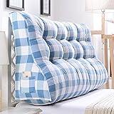Unbekannt Kissen Kissen lumbalen Kissen Doppelbett Kopfstütze Sofa Kissen große Taille Kissen im Bett Nachtkissen (Farbe : D, größe : 55cm)