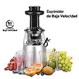 Excelvan Licuadora para Frutas y Verduras, 150W DC Motor silencioso, 65RPM Licuadora de Extracción...