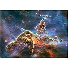 Espace 10126, Univers, Poster en Vinyle Affiche Plastifiée Murale Pop-Art Décoration Intérieure avec Dessin Coloré. Grandeur: 91 x 61 cm