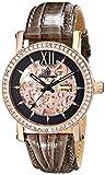 Burgmeister Armbanduhr für Damen mit Analog Anzeige, Automatik-Uhr und Lederarmband - Wasserdichte Damenuhr mit zeitlosem, schickem Design - klassische, elegante Uhr für Frauen -BM158-305 Malaga