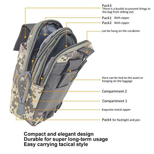 1000D Nylon Impermeabile Tattico Multiuso Utilità Gadget Sacchetto Borsa Nero Grata del ACU
