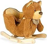 Unbekannt Schaukel Teddybär Schaukelpferd Kinder Plüsch Schaukel Holz Babyschaukel Pferd Baby Schaukelspielzeug Geschenk für Kinder 102/