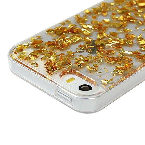 "MAXFE.CO TPU Silikon Hülle für iPhone 6 6S 4.7"" Handyhülle Schale Etui Protective Case Cover Rück mit Golden Design Skin Golden"