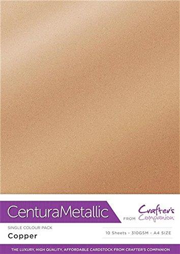 Kupfer Blatt (Centura Metallic Single Farbe 10Blatt Pack, kupfer)