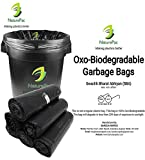 #8: NaturePac Garbage Bags Biodegradable For Kitchen,Office,Large Size (60cmx81cm),Black (90 Bag).