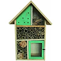 Heritage Fix On Insect Wooden Hotel Nest Home Bee Keeping Bug Garden Ladybird Box Hotel (2155 Green Medium Insect Hotel)