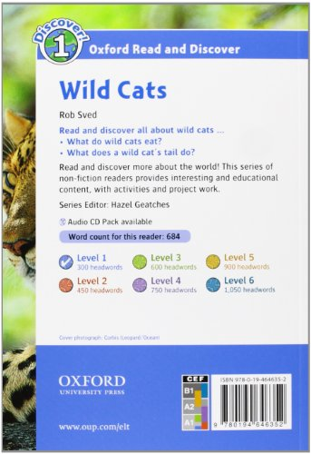 Oxford Read and Discover 1. Wild Cats Audio CD Pack