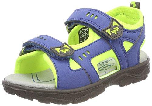 Lurchi Jungen Kris Sandalen, Blau (Cobalt Neon Yellow), 30 EU