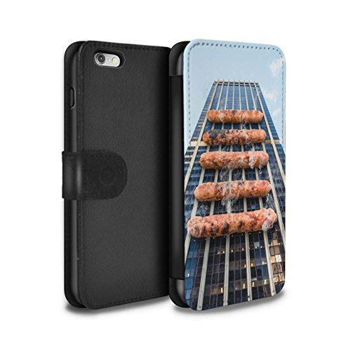 Stuff4 Coque/Etui/Housse Cuir PU Case/Cover pour Apple iPhone 6S+/Plus / Gueule de Bois Design / Vers Bas Sous Collection Barbecue/BBQ