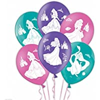 Disney Princess Amscan International 28 cm 4 Sides Latex Balloons( Pack of 6)