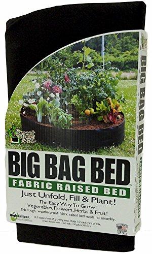 Smart Pot machen Fall Big Bag Stoff Hochbeet Weiche Seiten Behälter zersetzung Pflanzgefäß Garten Töpfe (Original 127x 30,5cm), schwarz