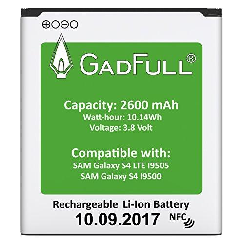 GadFull Akku für Samsung Galaxy S4 | 2017 Baujahr | Wie EB-B600BE | Lithium-Ionen-Akku der Modelle S4 i9500 & LTE i9505 | Ersatz Handy-Akku für Ihr Smartphone | Perfekt als Ersatz-Akku